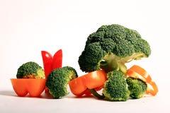 Pepper pair on a drak background. Vegan food Stock Image