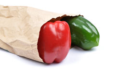 Pepper in paper bag Stock Photography