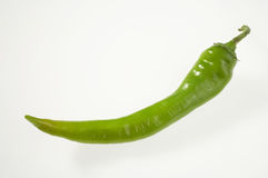 Pepper - Paprika. Green pepper on white background- weisser Paprika auf weissem Hintergrund stock images
