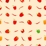 Pepper pattern Royalty Free Stock Image