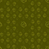 Pepper pattern drawing style Stock Photography