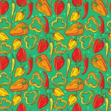 Pepper pattern Stock Photos