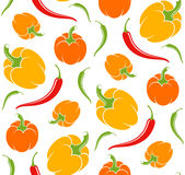Pepper. Pattern Stock Photo