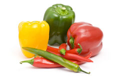 Pepper and peperoni Stock Photos