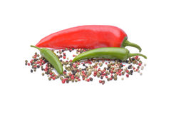 Pepper and pepper spice Royalty Free Stock Photography