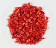 Pepper Pieces Stock Images