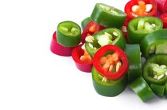 Pepper  pieces Stock Photography