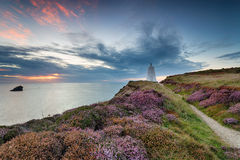 The Pepper Pot Daymark at Portreath Stock Photography
