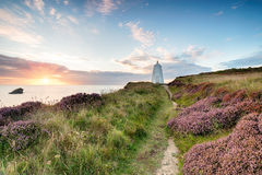 The Pepper Pot Lighthouse at Portreath Stock Photo
