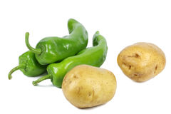 Pepper and potato Stock Photography
