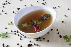 Pepper Rasam from South India. Stock Photo