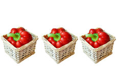 Pepper. Red pepper in the basket Royalty Free Stock Photo