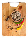 Pepper and rice Royalty Free Stock Photos