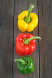 Pepper in a Row Stock Image