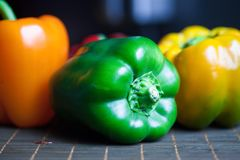 Pepper in a row Royalty Free Stock Photos
