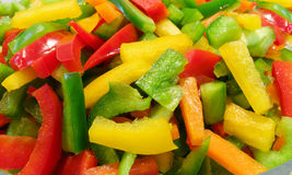 Pepper salad. Salad with fresh lettuce colorful pepper Stock Images
