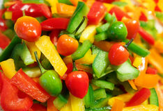 Pepper salad. Salad with fresh colorful pepper Stock Photo