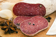 Pepper Salami Stock Photo