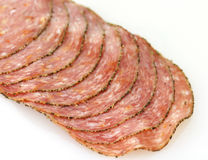 Pepper salami Royalty Free Stock Image