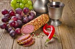 Pepper salami Stock Image