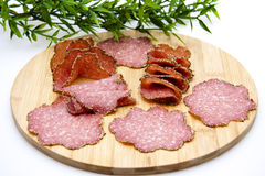 Pepper salami Royalty Free Stock Photography