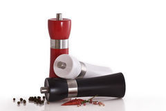 Pepper and salt mill Royalty Free Stock Photos