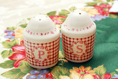 Pepper and salt shaker Stock Image