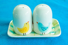 Pepper and salt shakers. Pic of Pepper and salt shakers Stock Images
