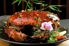 Pepper sauce crab Stock Photography