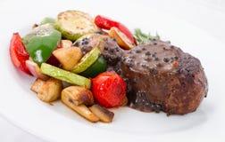 Pepper Sauce Steak Stock Image