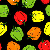 Pepper seamless pattern. Royalty Free Stock Photos