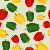 Pepper seamless pattern. Vegetable  background ripe sweet Royalty Free Stock Photos