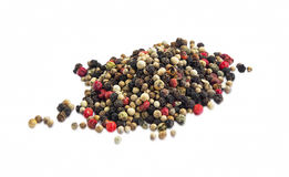 Pepper seeds heap isolated Royalty Free Stock Images