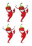 Pepper set Stock Images