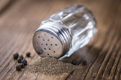 Pepper Shaker. (detailed close-up shot) on vintage background royalty free stock images