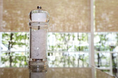 Pepper shaker on the table Royalty Free Stock Photography
