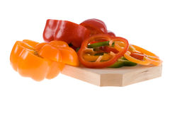 Pepper slices Royalty Free Stock Photography