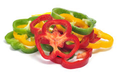 Pepper slices Stock Photography