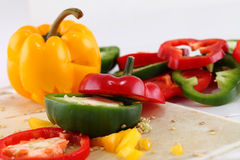 Pepper slices Stock Images
