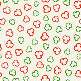 Pepper slices pattern Stock Images