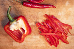 Pepper slices Stock Image