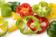 Pepper slices Royalty Free Stock Photo
