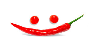 Pepper smile and eyes tomatoes Royalty Free Stock Image
