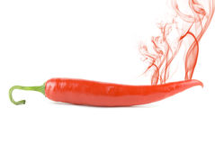 Pepper with smoke Stock Photography