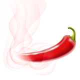 Pepper with smoke Royalty Free Stock Photography