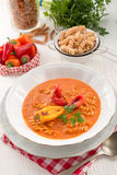 Pepper soup also full grain noodles Royalty Free Stock Photography