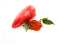 Pepper spice. Isolated on white Stock Photo