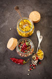 Pepper spice mix Royalty Free Stock Image