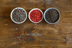 Pepper spice red, black,  top view Royalty Free Stock Photography