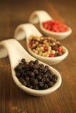 Pepper spices Stock Photos